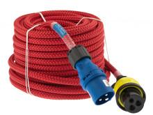 Strömkabel ELLINOR röd med CEE- och Ratio-kontakt