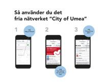 Fritt Wi-Fi i Umeå centrum vid invigningen av kulturhuvudstadsåret