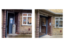 Alford House Before and After - Entrance