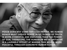Dalai Lama är en av de personer som stödjer Humanium Metal by IM.