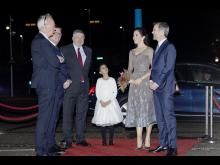 D.K.H. Kronprins Frederik og Kronprinsesse Mary ankommer til Kronprinsparrets Priser 2020 på Værket i Randers.