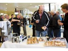Kaffe och bulle på VA-mässan 2012