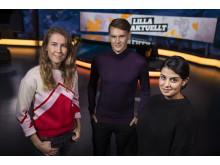Lilla Aktuellt: Malin Andersson, Kristoffer Fransson och Aida Pourshahidi, nominerade i kategorin Årets Röst 2018