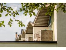 Kvarteret Kålmasken i Gyttorp, ritat av arkitekten Ralph Erskine.