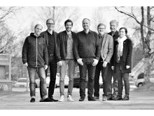 fr. vänster: David Väyrynen, Mats Pettersson, Henrik Ölvebo, Jonas Sjöstedt, Lars Alriksson, Lennart Johansson och Pernilla Fagerlönn
