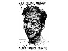 """Omslag för """"En droppe midnatt"""" av Jason Timbuktu Diakite"""
