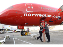 Norwegian's inaugural flight from London Gatwick to Las Vegas