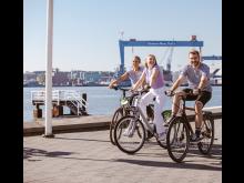 Fahrrad fahren Kiellinie