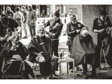 Strasseneinsatz der Barber Angels - Foto: Viola Hedtke Decker/Emotion-Fotos.eu