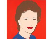 Portrett av Kronprinsesse Sonja, 1982. Foto Nasjonalmuseet(c) Warhol Andy BONO
