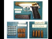 Seized firearm and ammunition