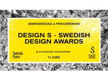 Design S – Swedish Design Awards 2018