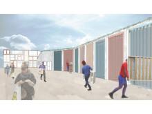 Kvartersnära återvinning, Sofia Melin, Arkitektskolan Lunds universitet