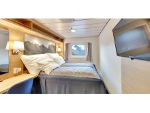 One of the new cabins on board MS Kong Harald