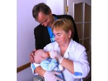 Bjørn Kjos besøker et sykehus for hiv-smittede barn i Ukraina