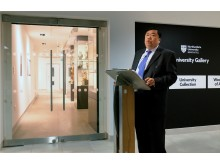 Mr Wee Teng Woon at the opening of the new Woon Gallery of Asian Art