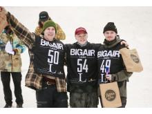Karl Fredriksson, Max Pettersson, Arvid Segevall, LTU Big Air 2019 på Luleå tekniska universitet