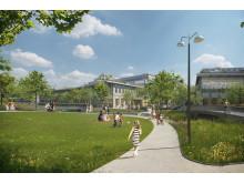 Campus Albano, Albano park, Stockholm