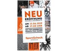 Top Angebote frisch vom Haken bei der Neueröffnung der SportScheck-Filiale in Hamburg am 13.06.2019