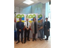 Chair of SCIB and Headteacher at St Leonard's Neil Blackwell, Chief Inspector John Batty, Victoria Prentis MP,  Emma Hill and Vicky Norman from CAMHS