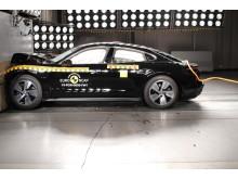 Porsche Taycan full width impact test Dec 2019