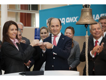 Marie Parck of NASDAQ OMX and Cavotec CEO Ottonel Popesco