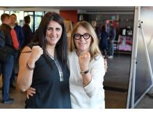 Rola El-Halabi (Mehrfache Boxweltmeisterin) und Sandra Hoch (Mitglied der FPZ Geschäftsleitung)