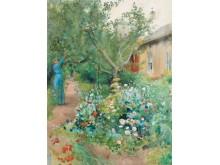 Carl Larsson, Trädgårdsscen från Marstrand