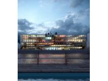 Konceptbild för Magasin 113 i Frihamnen av MVRDV och BSK arkitekter