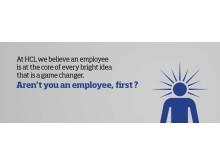 Työntekijä ensin, sitten asiakas