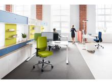 Drehstuhl mit automatischer Gewichtserkennung