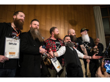 Skäggtävling på Spånga Beard Party 2017
