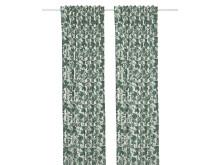 ALPKLÖVER gardin, 145x250 hvid mørkegrøn 179.-/2 stk.