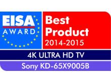 Vuoden 2014-2015 4K Ultra HD TV Euroopassa: KD-65X9005B