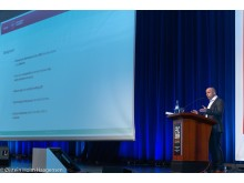 Andreas Eklund presenterar sin forskning.