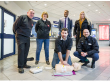 Demonstrations were given on how to use a defibrillator at Welwyn Garden City