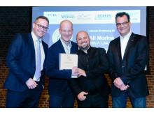 """Erstmalig sprach die Jury Lobende Erwähnungen aus: Die Willy A. Löw AG aus Bad Homburg erhielt die Auszeichnung im Bereich """"Flachdach"""" für die Abdichtungsarbeiten am Frankfurter Krönungsweg."""