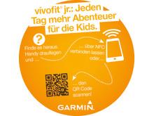 POS Aufkleber mit QR und NFC