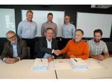 Signering av kontrakt for bygging av infrastruktur i Roan vindpark 1