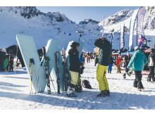 Das Wetter bot den Wintersportlern optimale Bedingungen.