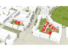 Placering Arkitektradhus i Brunnshög