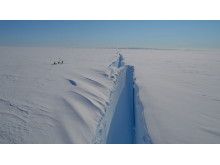 The Halloween crack in the Brunt Ice Shelf (Credit: Jan De Rydt/British Antarctic Survey)