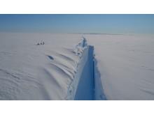 The Halloween crack in the Brunt Ice Shelf (Credit: Jan De Rydt/British Antarctic Survey)