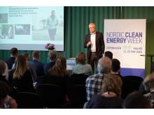 Peter Kihlgren, Kemira Kemi, talar på Nordic Clean Energy Week 2018