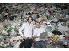 Göteborgsbolaget Recycla med grundarna Carl-Ivar Ahlqvist och vd Sebastian Tamm erbjuder en tjänsteplattform för smart avfallshantering och återvinning.