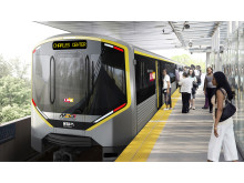 Rendering of Metro Trains proposed for Baltimore Metro