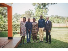 The Non-Violence Project Uganda's Head office team with Country Director Eddy Balina.