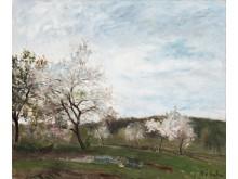 """CF HILL, """"Det blommande fruktträdet"""". Utrop 2 000 000 -  2 500 000 kr."""