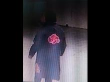 Back view of graffiti suspect