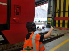 David Elston in depot 4